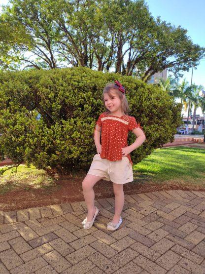 Conjunto Jordana Blusa Mullet e Shorts