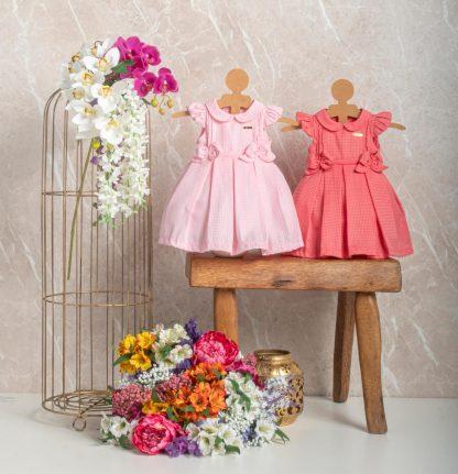 Vestido Festa Perfeito para Aniversário de 1 Ano - Rosa - GG