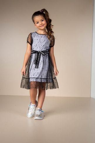 Vestido Menina em Tule Moderno - Preto - 10