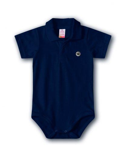 Body Polo Bebê Menino - Azul-marinho - 3