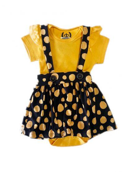 Conjunto Bebê Body e Salopete - Amarelo - GG