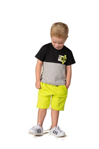 Conjunto Infantil Camiseta e Bermuda em Moletom - Verde - 3