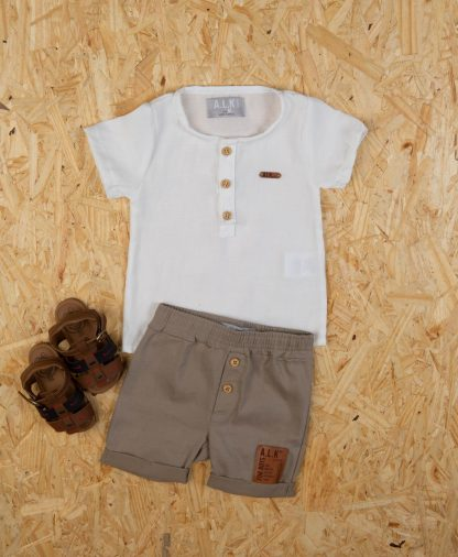 Conjunto Bebê Camiseta e Bermuda Estiloso
