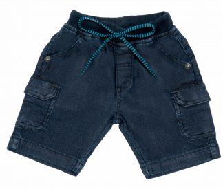 Bermuda Jeans Infantil Menino - Azul-marinho - 3