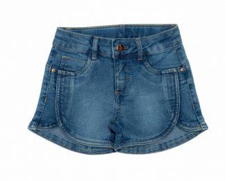 Short Jeans Infantil Menina - Azul - 8