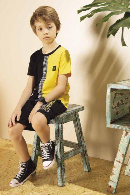 Conjunto Infantil Menino Camiseta e Bermuda